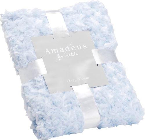 Amadeus Les Petits - Plaid enfant en polyester Petites Roses Bleu