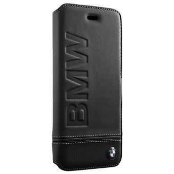Etui Cover iPhone 6 6S 7 8 Houe cuir BMW Clapet Compartiment carte noir
