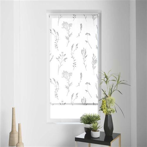 Store tamisant Imprimé métallisé 60 x 180 cm polyester forelista Blanc