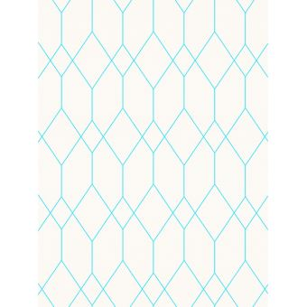 Papier peint Géométrique Diamant Blanc / Teal Esprit 32792-4
