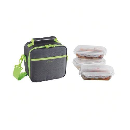 be nomad sep122v set sacoche lunch box - vert