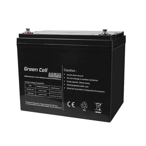Green Cell AGM Batterie au plomb 12V 75Ah