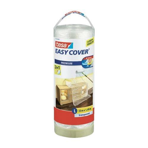 Tesa Rouleau De Film Protecteur + Easy Cover Premium L, (bâche + Ruban De Masquage) - 33m X 1400mm