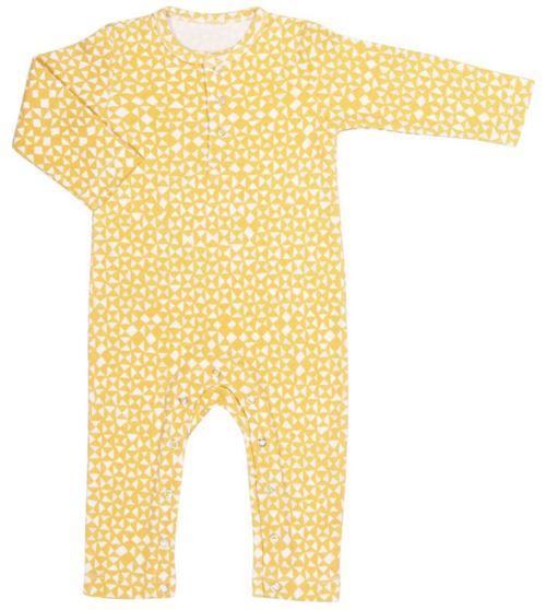 Trixie grenouillère à manches longues en coton jaune