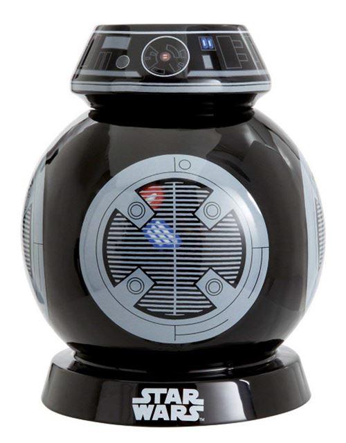 Star Wars Sw05543 Boîte À Cookies Sonore, Plastique, Noir, 14 X 14 X 22 Cm