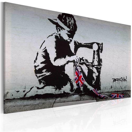 Artgeist - Tableau - Union Jack Kid (Banksy)