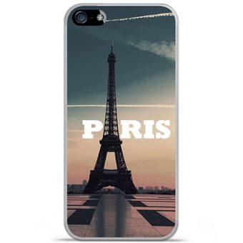 Coque silicone gel Apple iPhone SE motif Paris