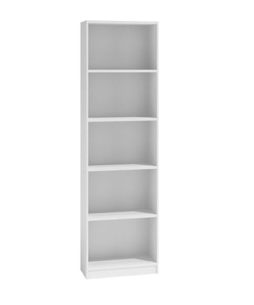 FLORENCE - Bibliothèque contemporaine 5 niches blanc