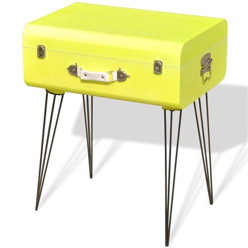 vidaXL Table de chevet 49,5 x 36 60 cm Jaune