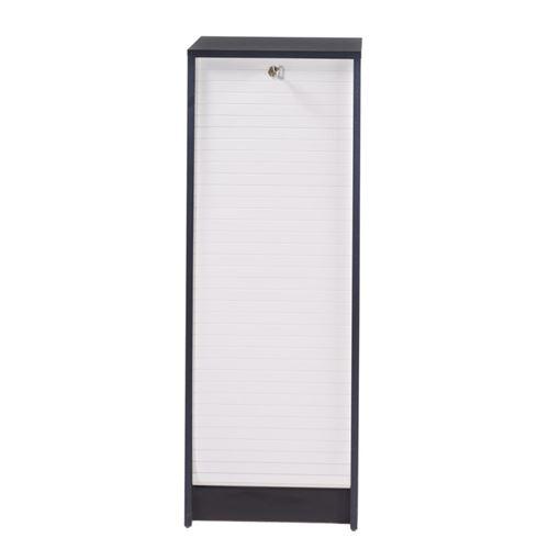 Classeur à Rideau Noir Bicolore - Coloris: Blanc