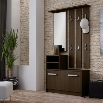 ambre vestiaire d entr e weng achat prix fnac. Black Bedroom Furniture Sets. Home Design Ideas