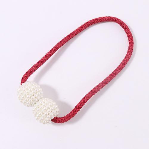 Boucle Clip Magnétique Rideau Bretelles Rouge