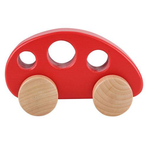 Hape voiture en bois 12.5 cm rouge