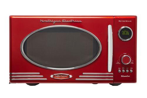 Siméo Nostalgia Electrics Retro Series FC810 - Four micro-ondes monofonction - pose libre - 25 litres - 800 Watt - rouge vif