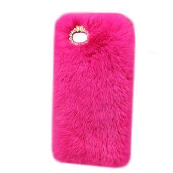 coque iphone 7 fourrure rose