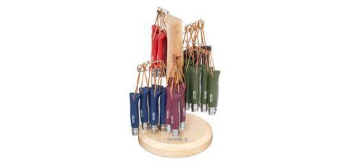 opinel - op002227 - présentoir n°08 - colorama 60 couteaux