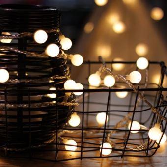 Guirlande Lumineuse 10m 80 Ampoules Guirlande Lumineuse Led A Piles Petites Boules Blanc Chaud Decoration Pour Fete Noel Mariage Achat Prix Fnac