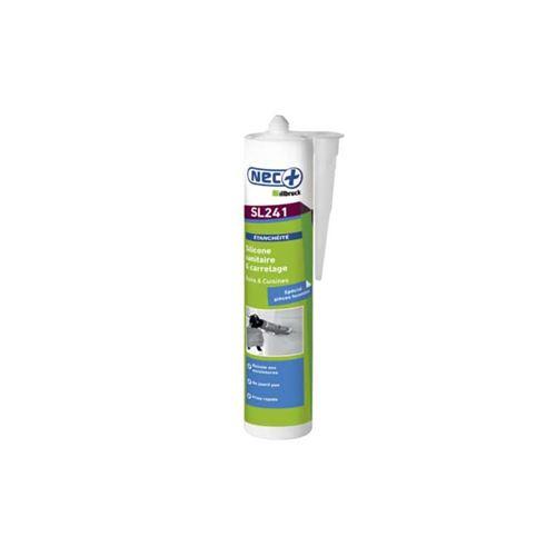 Mastic Silicone sanitaire SL241 NEC+ transparent 310ml x 5