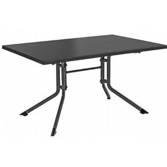 Table Pliante Anthracite En X De Dim95 Coloris Jardin Aluminium PkuiXZ