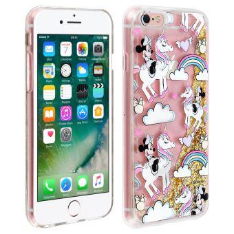 Coque iPhone 6 6S Minnie et Licorne Protection Rigide Disney Transparent