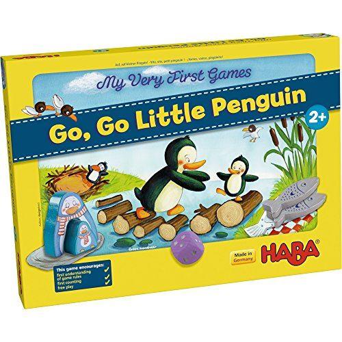 HABA Mes tout premiers jeux - Go Go Little Penguin - Un premier jeu compétitif pour les 2 ans et plus (Made in Germany)