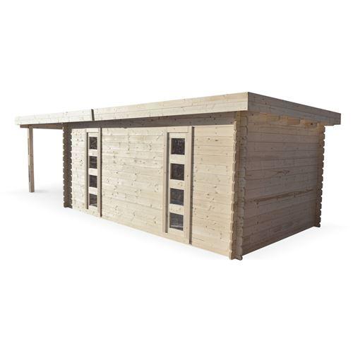 300€ sur Abri de jardin moderne avec auvent COMPIEGNE en bois FSC de ...