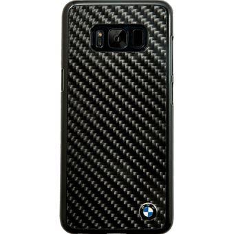 BMW Coque carbone véritable pour Samsung Galaxy S8, Noir