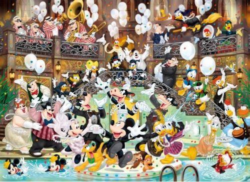 Puzzle adulte : mickey fait la fete - 1000 pieces - clementoni - collection disney 90 eme anniversaire