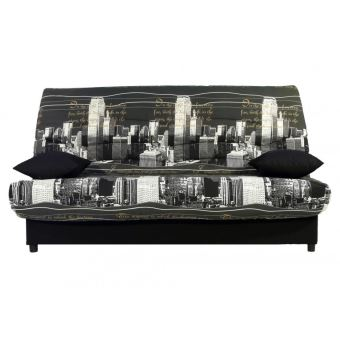 Canape Clic Clac En Tissu Saloon Avec Coffre De Rangement Imprime New York
