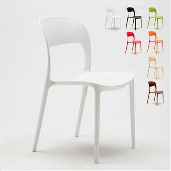 Chaise Salle A Manger Bar Restaurant En Polypropylene Colore Design Restaurant Couleur Blanc