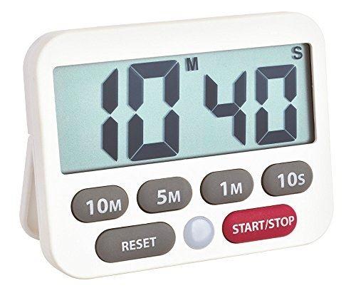 Tfa dostmann minuteur numérique et chronomètre, plastique, blanc, 9 x 2 x 9 cm