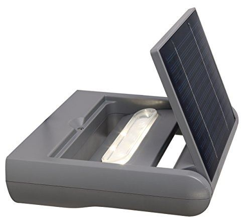Eco light mini 20191500 spot ledspot solaire 1 feu, à intensité variable et 6144 rotation protection ip44 s-1-sl si