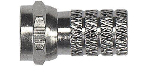 Axing CFS 4-00 Lot de 10 fiches F à visser pour câble de diamètre 4,7 mm
