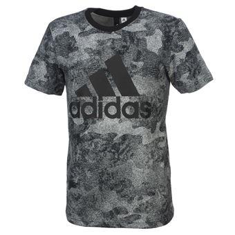 4cd4bb02bd6b4 Tee shirt manches courtes Adidas Ess camo blk mc tee Noir taille   XL réf    53386 - Hauts