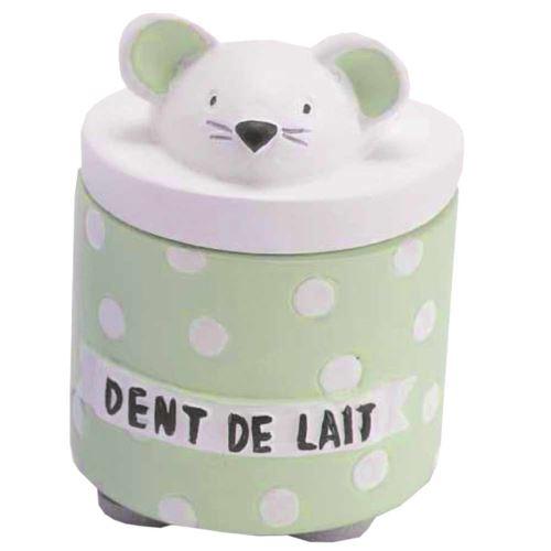 Petite boite à dents de lait Eglantine Verte