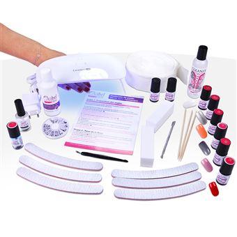 Kit Manucure Vernis Semi Permanent Lampe Led Uv Avec 6 Vsp 20 Accessoires