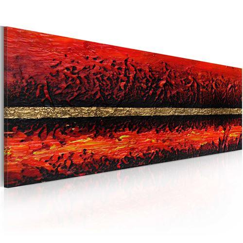 Tableau peint à la main - Eruption volcanique - 100x40 - -