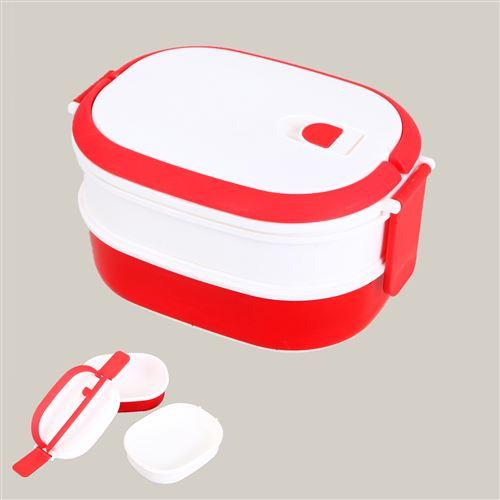Bento box 2 compartiments pp 20.5 x 14.5 x 11.5 cm Rouge