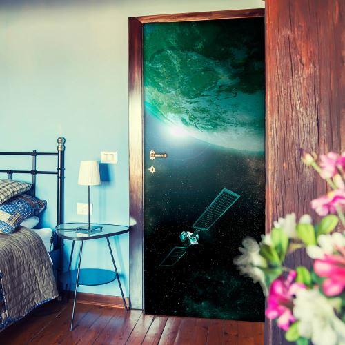 Papier-peints pour porte - Green Galaxy - 100x210 - -