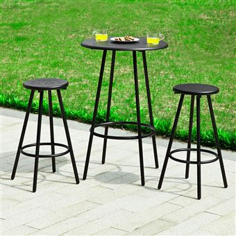 sobuy set de 1 table bar bistrot ronde 2 tabourets mange debout ogt08 sch fr achat prix fnac. Black Bedroom Furniture Sets. Home Design Ideas