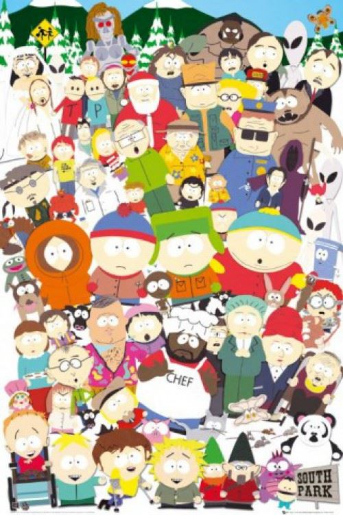 Poster Encadre South Park Personnages 91x61 Cm Cadre Plastique Pink Poster Affiche Encadre Top Prix Fnac