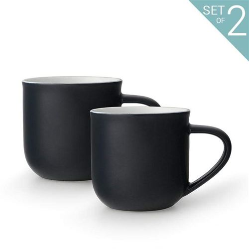 Viva Scandinavia (V81245) Tasse Eva Minima™ - Set de 2 - Noir - 350 ml