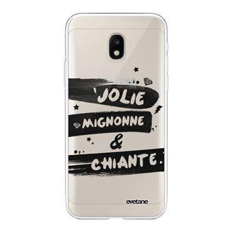Coque pour Samsung Galaxy J3 2017 transparente Jolie Mignonne et chiante TendanceEvetane. [Evetane®]