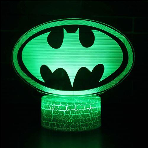 Lampe 3D Tactile Veilleuses Enfant 7 Couleurs avec Telecommande - Batman #290
