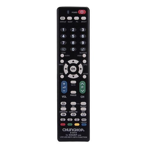 (#103) Universal Remote Controller for SHARP LED TV / LCD TV / HDTV / 3DTV