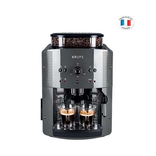 KRUPS YY4451FD Machine a café automatique avec broyeur a grains Essential avec mousseur a lait - Pression 15 bars - Grise