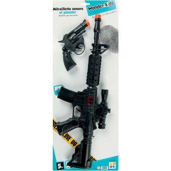 Wonderkids A1100048 Mitraillette Sonore 47cm Pistolet Jouet