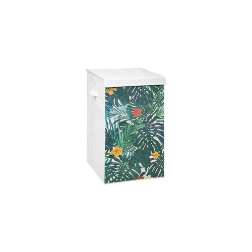 Panier à Linge Tropical 60cm Blanc