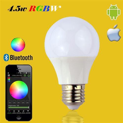 Bluetooth Lampe Led Rgbw Commande À CBeodx