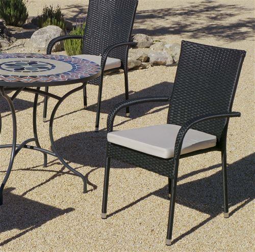 Hevea - Salon de jardin table ronde mosaïque Cambel Ampuria